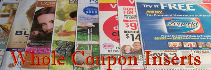 Why Buy Coupon Inserts? Why would you buy inserts you ask? Most of the time you will pay less than you do for a paper in your home town. The average cost .